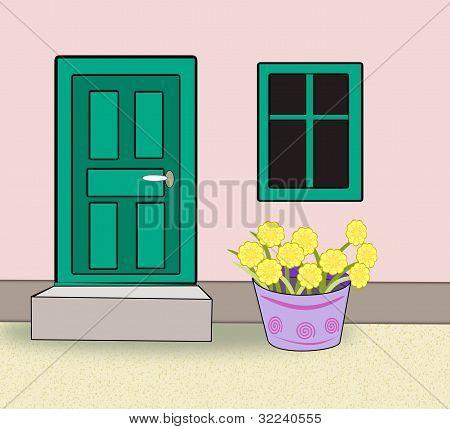 Doors, Windows and Flower Pots.