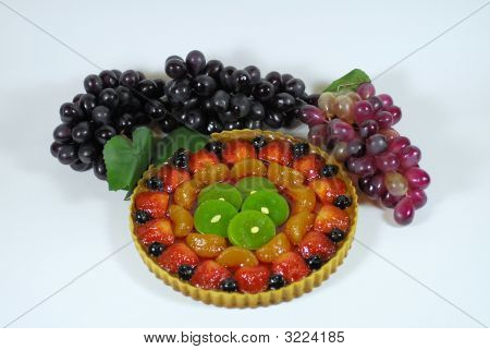 Fruit Tart Pastry With Grapes