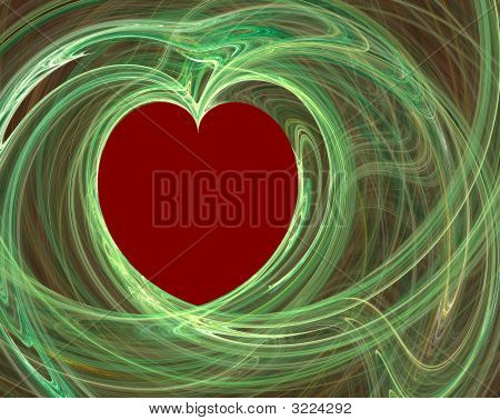 Red And Green Heart
