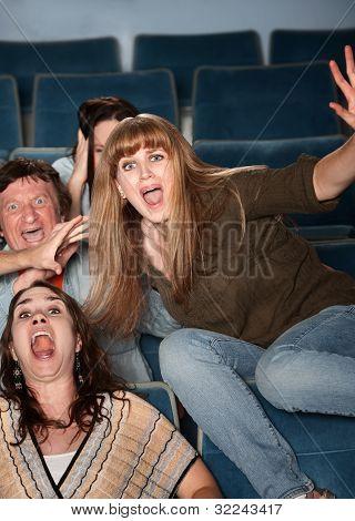Overreacting Teen In Theater