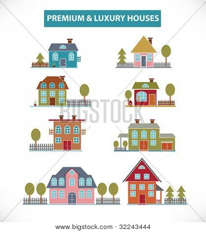 premium houses set vol.10 - vector (easy edit)