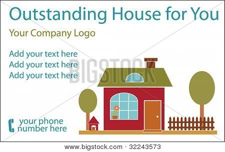 advertising real estate template - vector (easy edit)