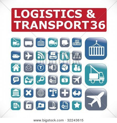 Logistik & Transport Symbole vector Set # 32