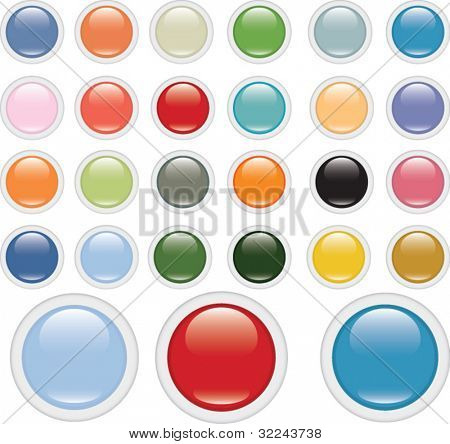extra big glossy circle button set v.2 (impressionism edition)