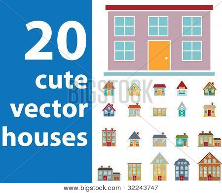 extra big vector house set v. 8