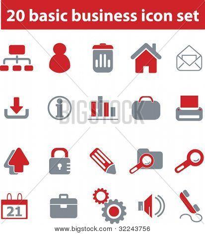 20 basic business icon set # 02