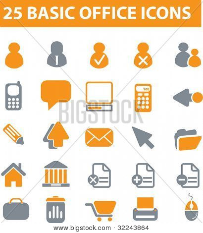25 basic office icons