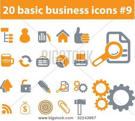 20 basic business icons # 9