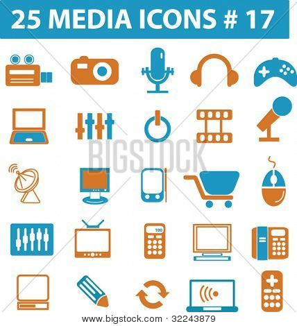 25 media icons # 17 - vector set