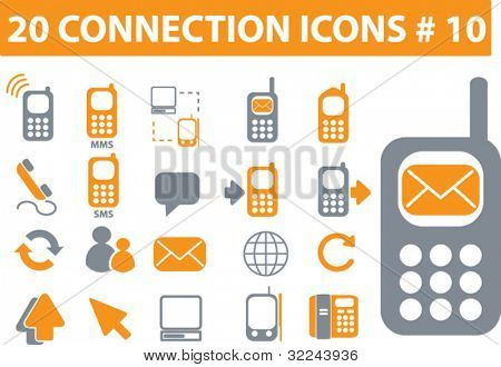 20 connection icons # 10 - vector set
