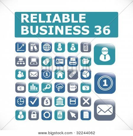 glossy reliable business 36 buttons