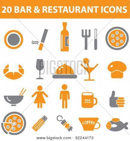bar and restaurant signs - vector set # 25