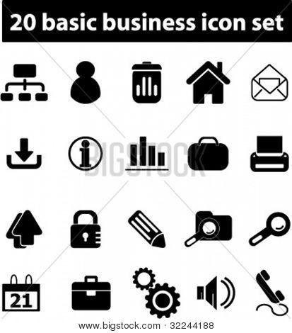 20 basic business icons