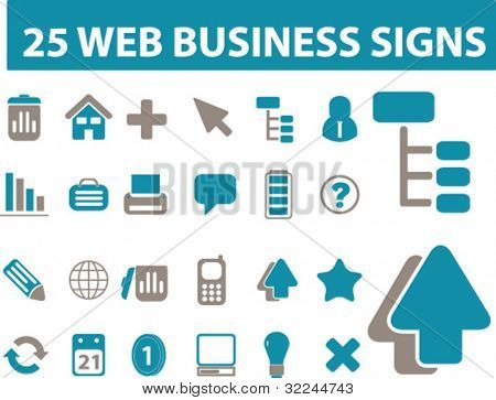 25 web business signs. vector