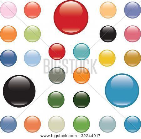glossy buttons - mega pack.vector