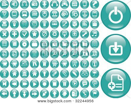 100 web glossy buttons. vector. please, visit my portfolio to find more similar.