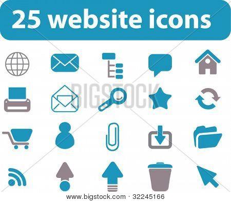 25 website signs. vector.