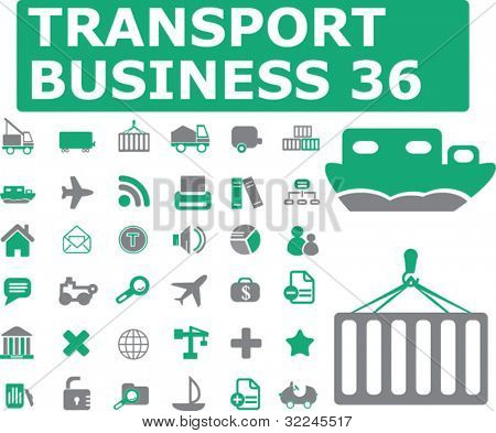 36 transport icons. vector.
