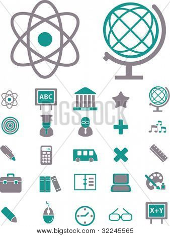 education and science icons. please, visit my portfolio to find more similar.