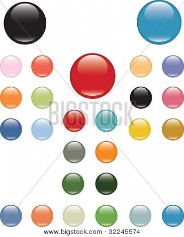 mega glossy buttons pack. vector