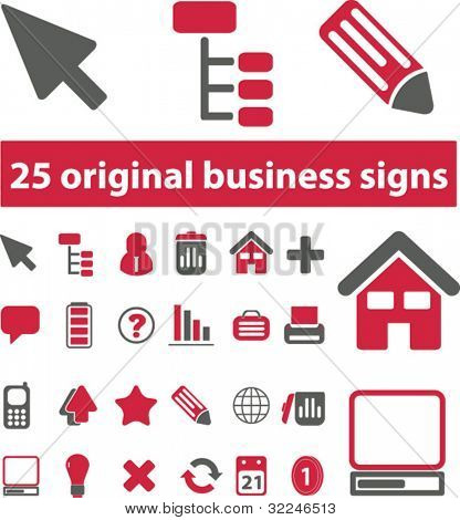 25 original business signs. vector
