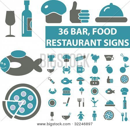 restaurant & food icons. vector