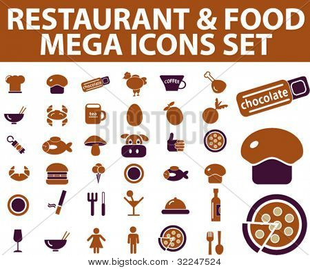 36 restaurant & food icons. vector