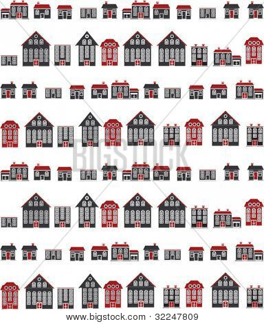 red-black city. vector