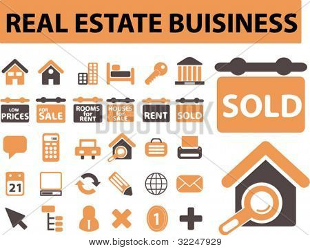 real estate business signs. vector