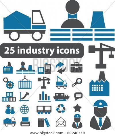 25 iconos de la industria. Vector