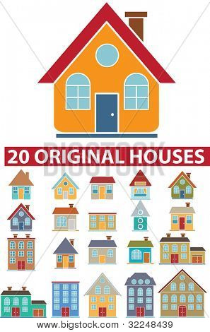 20 original houses. vector