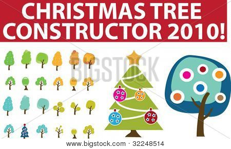 christmas tree constructor. vector