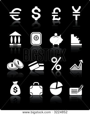 Geld-Vektor-Iconset