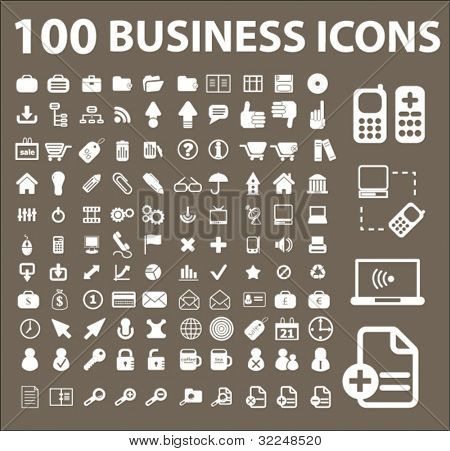 100 ícones do negócio. vector