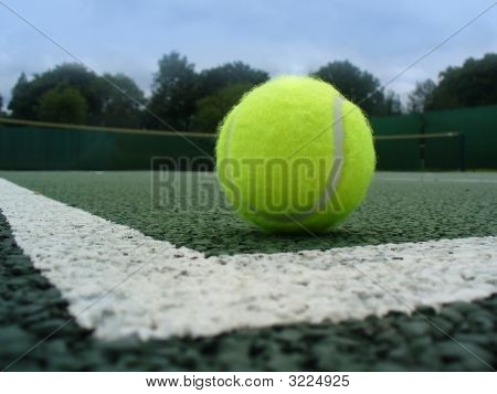 Tennis Ball In Court