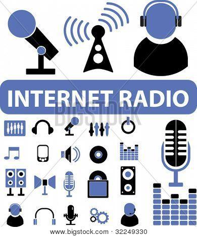internet radio signs. vector