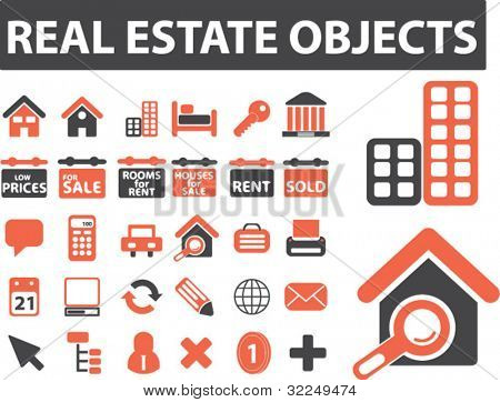 real estate objects. vector