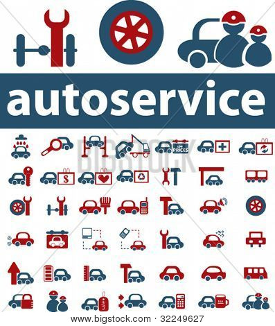 autoservice signs. vector