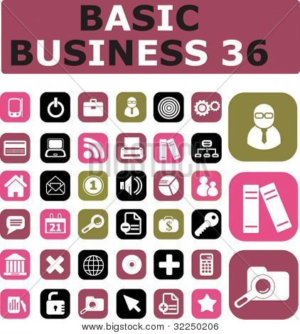 36 basic business. vector