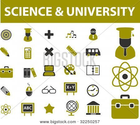 science & university signs. vector