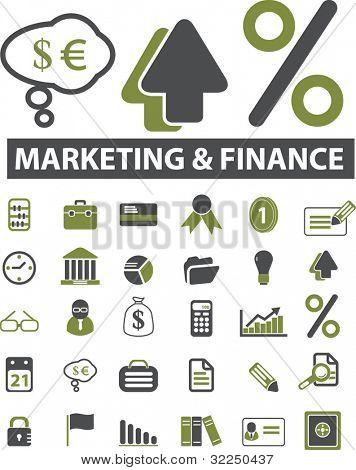 30 marketing & finance signs. vector