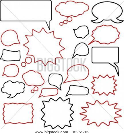 20 chat & thought signs. vector