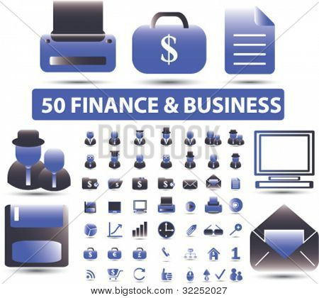 50 finance & business premium signs. vector