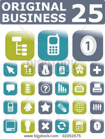 25 original business buttons. vector