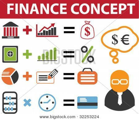 finance advertising concept. vector