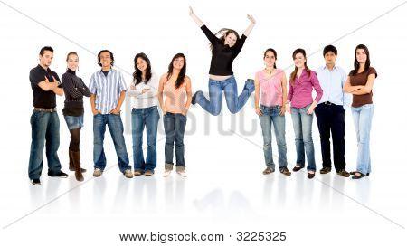 Gruppe von Menschen - Erfolg