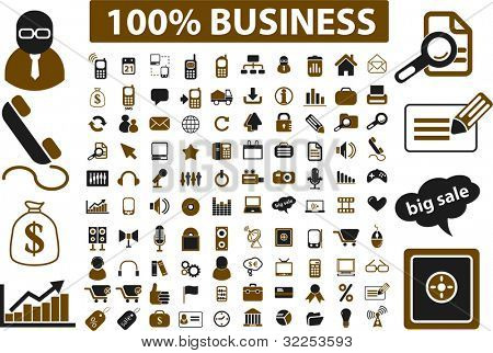 100 professional business signs. vector