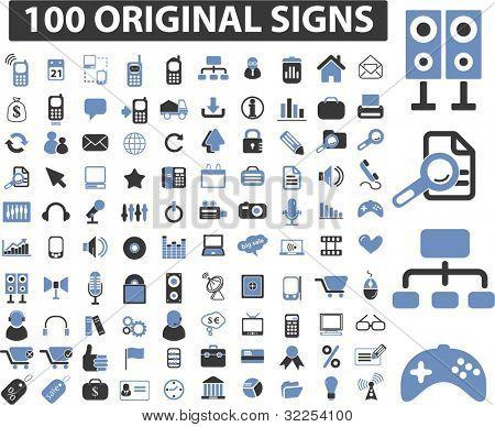 100 original Zeichen. Vektor
