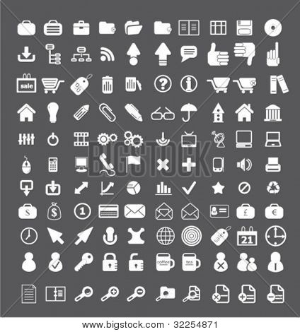 100 mega office signs. vector