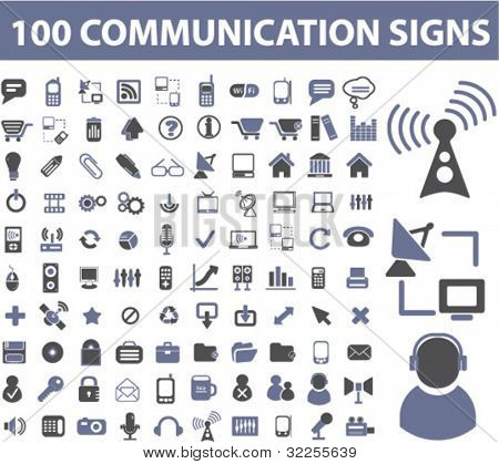 50 communication signs. vector